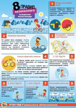 8 правил безопасного вождения велосипеда